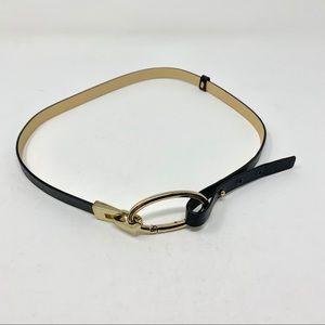 BANANA REPUBLIC black leather belt. Size Small.